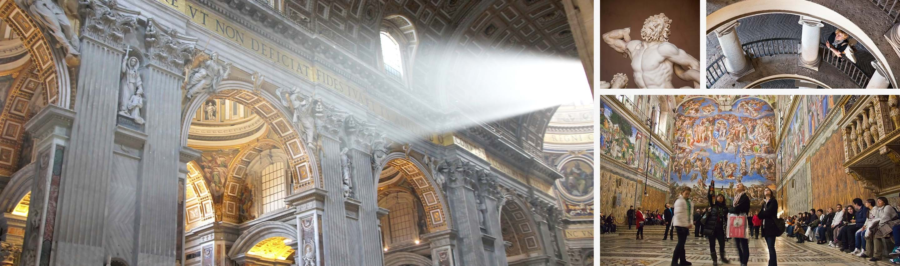 Extended Sistine Chapel and Vatican Museums Tour with Bramante Staircase and St. Peter's Basilica