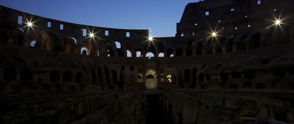 Colosseum by Night including Underground & Ancient Rome Tour