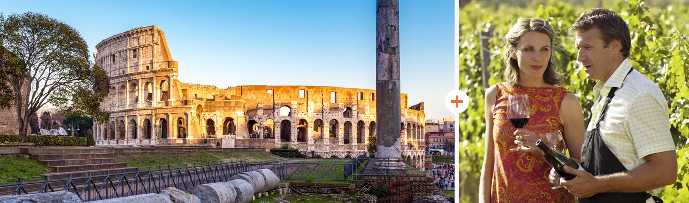 Colosseum and Roman Countryside Vineyard Wine Tasting ComboSaver Tour